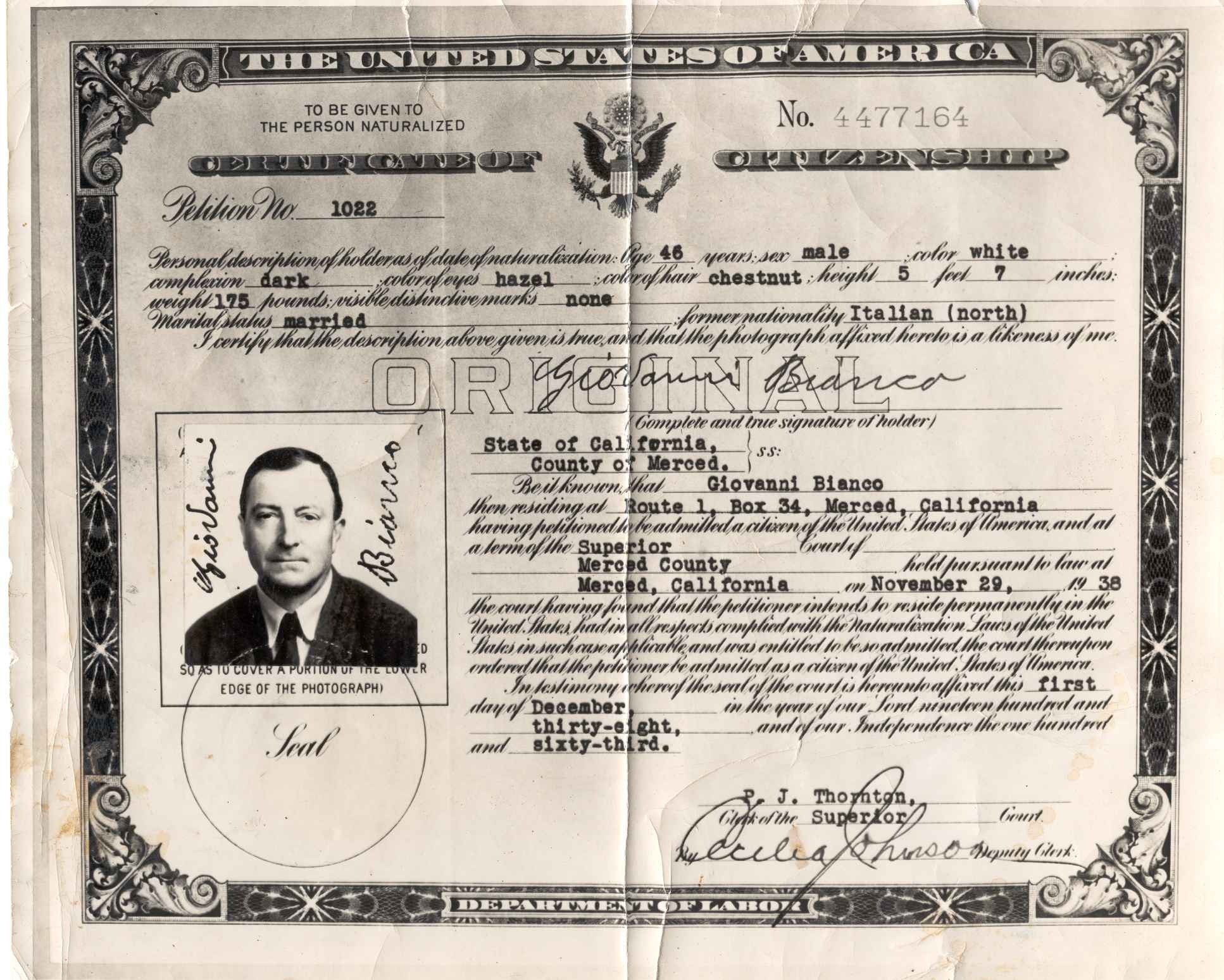The lee b quilici webpage lees father john bianco became a naturalized us citizen on november 29 1938 because lee was still a minor at the time lee automatically became a aiddatafo Images